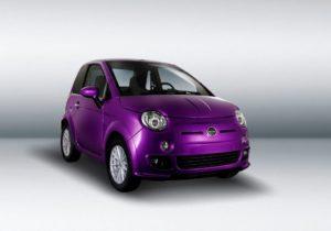 Bellier voiture sans permis violet